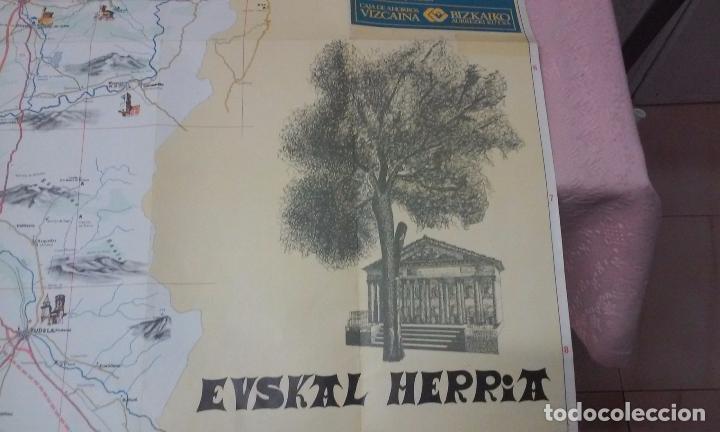 Mapas contemporáneos: MAPA DE EUSKAL HERRIA CAJA DE AHORROS VIZCAINA AÑOS 60-70 - Foto 3 - 61575996