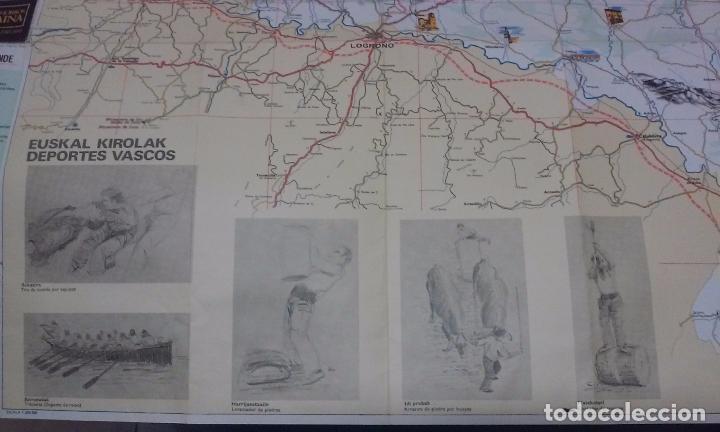 Mapas contemporáneos: MAPA DE EUSKAL HERRIA CAJA DE AHORROS VIZCAINA AÑOS 60-70 - Foto 4 - 61575996