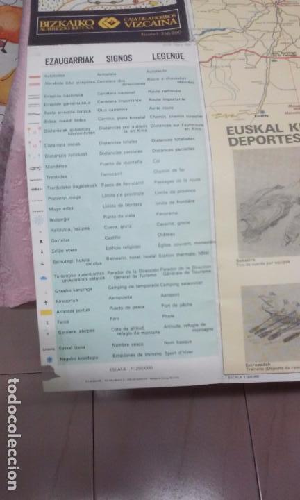 Mapas contemporáneos: MAPA DE EUSKAL HERRIA CAJA DE AHORROS VIZCAINA AÑOS 60-70 - Foto 5 - 61575996