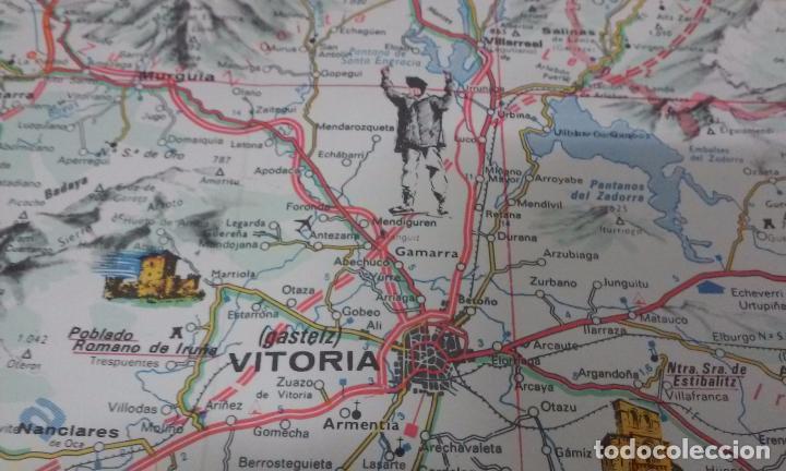 Mapas contemporáneos: MAPA DE EUSKAL HERRIA CAJA DE AHORROS VIZCAINA AÑOS 60-70 - Foto 7 - 61575996