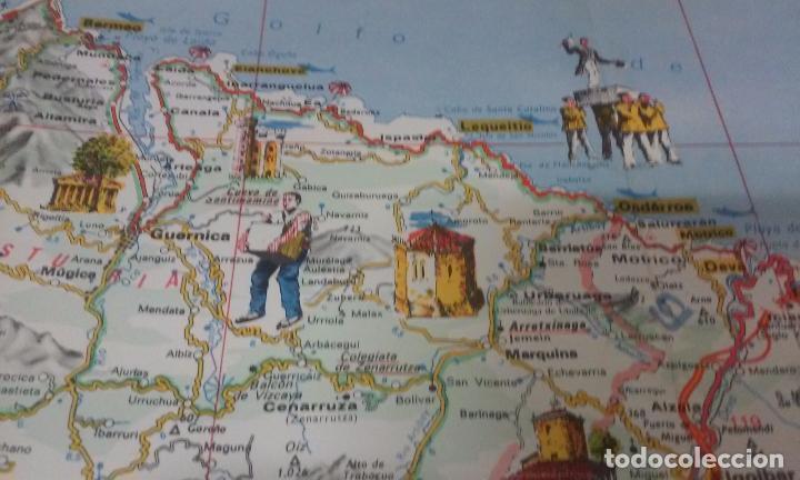 Mapas contemporáneos: MAPA DE EUSKAL HERRIA CAJA DE AHORROS VIZCAINA AÑOS 60-70 - Foto 8 - 61575996