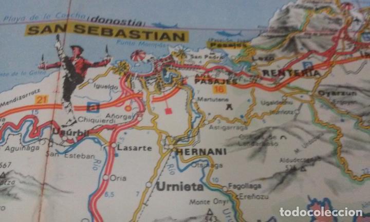 Mapas contemporáneos: MAPA DE EUSKAL HERRIA CAJA DE AHORROS VIZCAINA AÑOS 60-70 - Foto 10 - 61575996