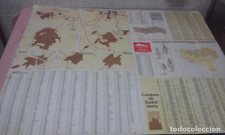 Mapas contemporáneos: MAPA DE EUSKAL HERRIA CAJA DE AHORROS VIZCAINA AÑOS 60-70 - Foto 13 - 61575996