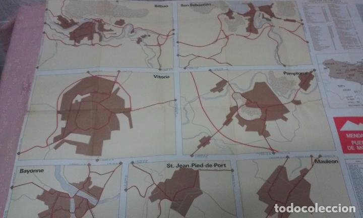 Mapas contemporáneos: MAPA DE EUSKAL HERRIA CAJA DE AHORROS VIZCAINA AÑOS 60-70 - Foto 14 - 61575996