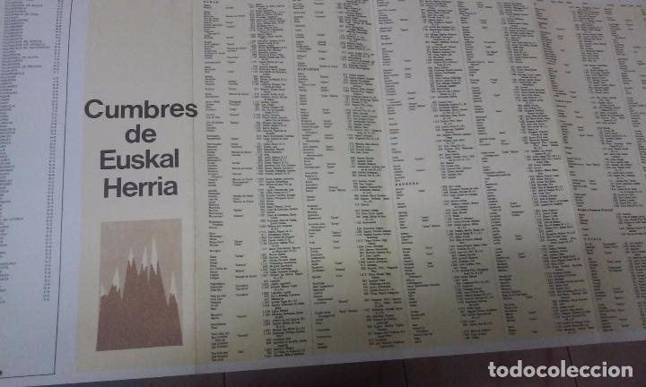 Mapas contemporáneos: MAPA DE EUSKAL HERRIA CAJA DE AHORROS VIZCAINA AÑOS 60-70 - Foto 15 - 61575996