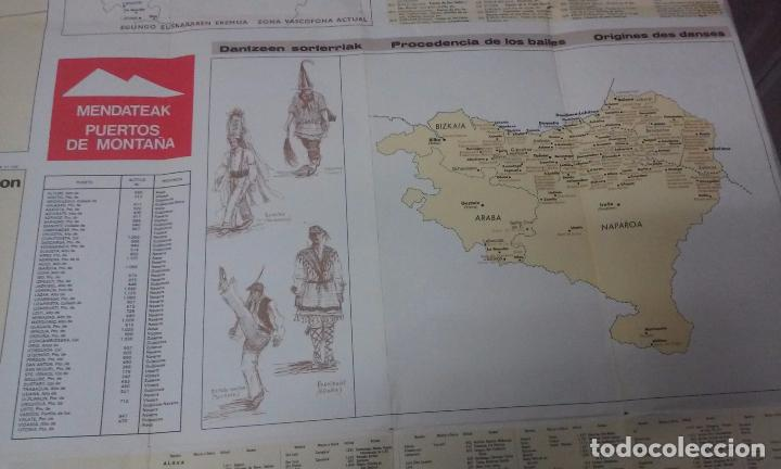 Mapas contemporáneos: MAPA DE EUSKAL HERRIA CAJA DE AHORROS VIZCAINA AÑOS 60-70 - Foto 16 - 61575996