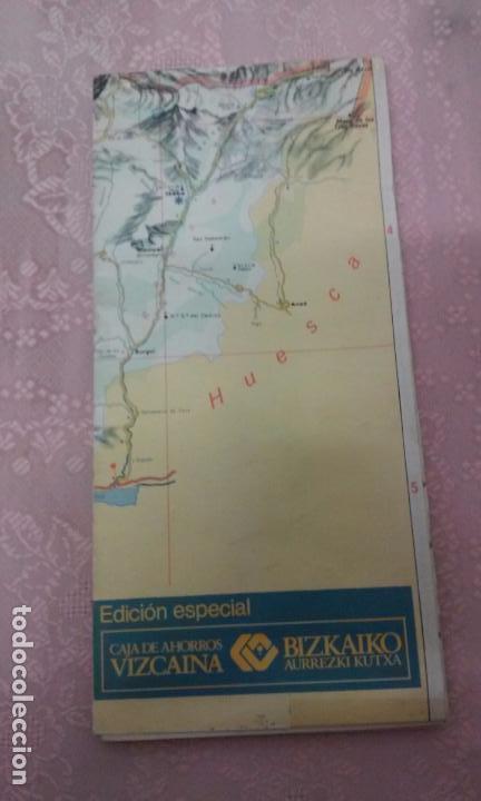 Mapas contemporáneos: MAPA DE EUSKAL HERRIA CAJA DE AHORROS VIZCAINA AÑOS 60-70 - Foto 21 - 61575996
