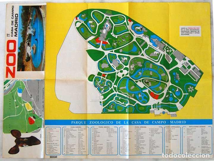plano del zoo de la casa de campo de madrid - - Comprar Mapas ...