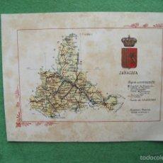 Mapas contemporáneos: MAPA ZARAGOZA ALBERTO MARTIN CIRCA 1920. Lote 62330520