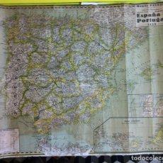 Mapas contemporáneos: MAPAS PALUZIE. ESPAÑA Y PORTUGAL. 1938. Lote 63143548