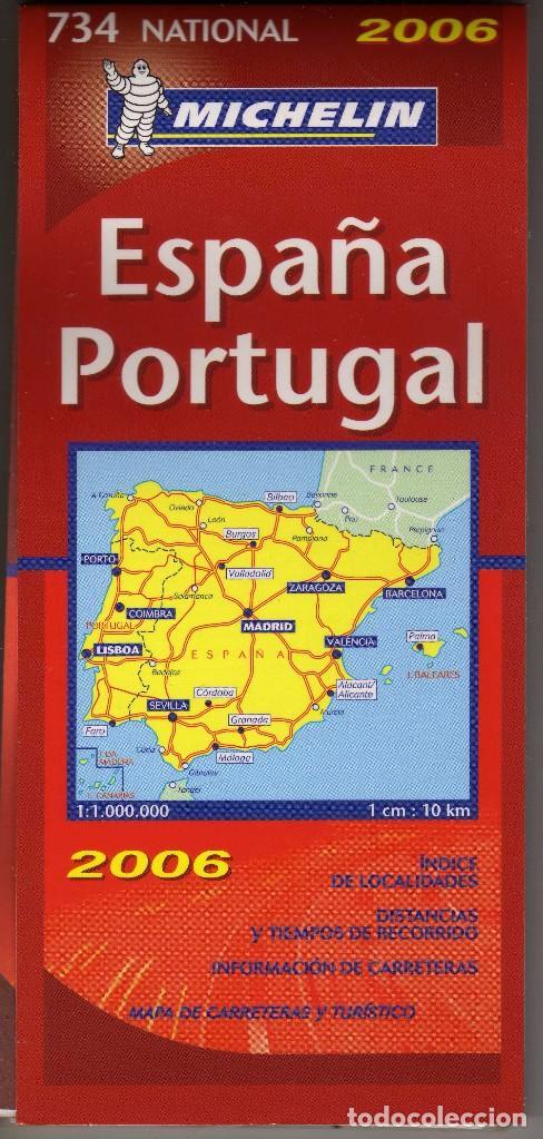 Mapa Carreteras Espana Portugal Michelin 2006 Sold Through