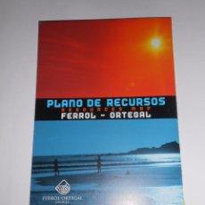Mapas contemporáneos: PLANO MAPA DE RECURSOS DE EL FERROL ORTEGAL. GALICIA. TDKP8. Lote 63634235
