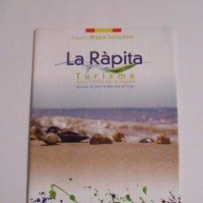 Mapas contemporáneos: MAPA TURISTICO DE LA RAPITA. SANT CARLES DE LA RAPITA DONDE LA TIERRA ABRAZA EL MAR. TDKP7. Lote 63734551