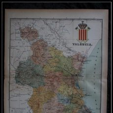 Mapas contemporáneos: MAPA DE VALENCIA 50X37CM - CA 1900 . Lote 64106787