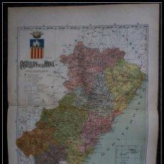 Mapas contemporáneos: MAPA CASTELLON DE LA PLANA - ISLAS COLUMBRETES - 50X37CM - CA 1900. Lote 64106859