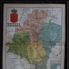 Mapas contemporáneos: MAPA NAVARRA - 50X37CM - CA 1900. Lote 64107203