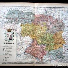 Mapas contemporáneos: MAPA ZAMORA - 50X37CM - CA 1900. Lote 64107363