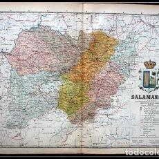 Mapas contemporáneos: MAPA SALAMANCA - 50X37CM - CA 1900. Lote 64107435