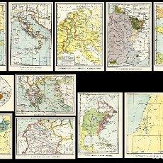 Mapas contemporáneos: 12 MAPAS DEL MUNDO. Lote 65018639