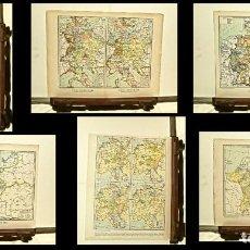 Mapas contemporáneos: 6 MAPAS GEOGRÁFICOS DE ALEMANIA, A TRAVÉS DE LA HISTORIA. Lote 65018703