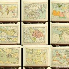 Mapas contemporáneos: 9 MAPAS DE DISTINTAS PARTES DEL MUNDO. Lote 65018819