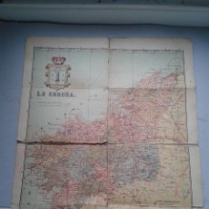 Mapas contemporáneos: MAPA DE LA PROVINCIA DE LA CORUÑA. ENTELADO.. Lote 65849546