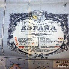 Mapas contemporáneos: ANTIGUO MAPA ESPAÑA PORTUGAL, BLONDEL LA ROUGERY, LISBOA, CADIZ, SEVILLA, BADAJO, HOJA 5, PARIS 1938. Lote 66197122