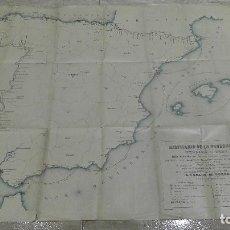 Mapas contemporáneos: MAPA INDICADOR DEL SERVICIO SANITARIO EXTERIOR DE ESPAÑA CON ARREGLO A LA LEY DE 1899. Lote 66262794