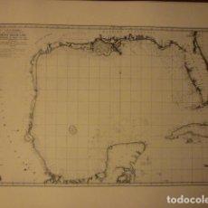 Mapas contemporáneos: CARTA ESFÉRICA QUE COMPRENDE LAS COSTAS DEL SENO MEXICANO. AÑO 1799.. Lote 66303270