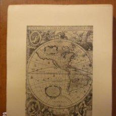 Mapas contemporáneos: MAPA NOVA TOTIUS TERRARUM ORBIS POR ENRIQUE HONDIO; ATLAS NOVUS. AMSTERDAM 1638.. Lote 155498817