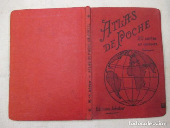 ATLAS DE POCHE - ATLAS MUNDIAL - EDI JEHEBER - PARIS 1924 26PAG + 20 MAPAS (Coleccionismo - Mapas - Mapas actuales (desde siglo XIX))