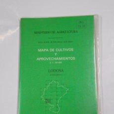 Mapas contemporáneos: MAPA DE CULTIVOS Y APROVECHAMIENTOS. E. 1: 50.000. LODOSA (NAVARRA). MINISTERIO DE AGRICULTURA TDKP9. Lote 67089733