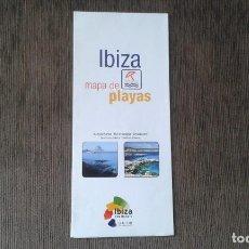 Mapas contemporáneos: MAPA DE PLAYAS Y CALAS -- IBIZA -- ISLAS BALEARES -- IBATUR --. Lote 89261010