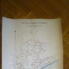 Mapas contemporáneos: MAPA DE CARRETERAS PROVINCIALES Y VECINALES DE LA PROVINCIA DE BARCELONA 1898. LIT. SOLA. Lote 68139377