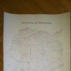 Mapas contemporáneos: MAPA DE LA PROVINCIA DE BARCELONA. GRABADO POR E. BROSA , 1879. Lote 68198633