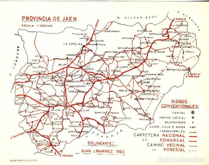 Jaen Mapa De La Provincia 1962 Buy Contemporary Maps At