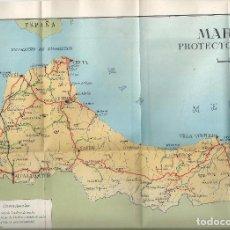 Mapas contemporáneos: MAPA - MARRUECOS PROTECTORADO ESPAÑOL - C. 1950 - 25 X 52 CM.. Lote 69393741