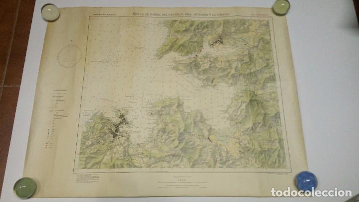 ANTIGUO MAPA NAUTICO DE LA RIAS DE FERROL DEL CAUDILLO (ARES, BETANZOS Y LA CORUÑA ) 1974 (Coleccionismo - Mapas - Mapas actuales (desde siglo XIX))