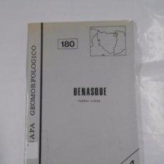 Mapas contemporáneos: MAPA GEOMORFOLOGICO DE BENASQUE. HUESCA. LLEIDA. GEOFORMA EDICIONES. TDK137 . Lote 70163893