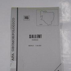 Mapas contemporáneos: MAPA GEOMORFOLOGICO DE SALLENT. HUESCA. ESCALA 1:50.00. GEOFORMA EDICIONES. TDK137 . Lote 70163977