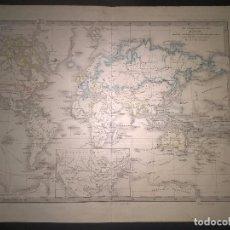Mapas contemporáneos: MAPA DE LA TIERRA ( DER ERDE) SPRUNER. Lote 70355357