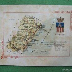 Mapas contemporáneos: MAPA CASTELLON AÑOS 20 ALBERTO MARTIN EDITOR. Lote 71644439