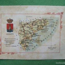 Mapas contemporáneos: MAPA ALICANTE AÑOS 20 ALBERTO MARTIN EDITOR. Lote 71644495