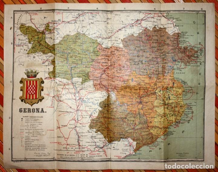 Mapa De Girona Provincia.Antiguo Mapa Provincia De Gerona Instituto Geografico Y Catastral 36x46 5 Cm Plano Girona