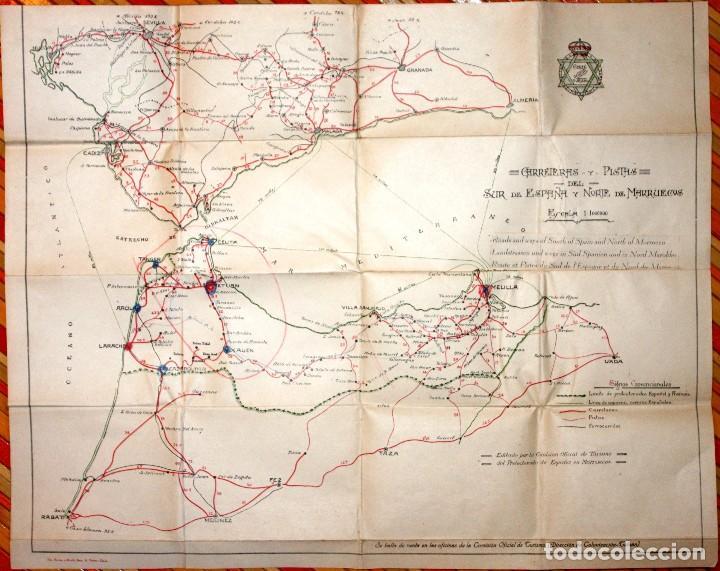 Mapa Marruecos Ceuta Y Melilla.Antiguo Mapa Carreteras Y Pistas Del Sur De Esp Vendido En
