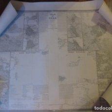 Mapas contemporáneos: MAPA PARCIAL DE LA ISLA DE CUBA. F. COELLO, AÑO 1851. ORIGINAL.. Lote 71816459