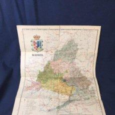 Mapas contemporáneos: MAPA PAPEL ENTELADO MADRID BENITO CHIA INGENIERO ALBERTO MARTIN EDITOR BARCELONA GALCERAN GARCIA ESC. Lote 71909387