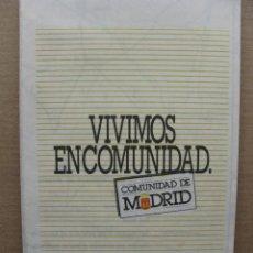 Mapas contemporáneos: MAPA DE CARRETERAS DE LA COMUNIDAD DE MADRID. 66 X 73 CM. APROX. JUNIO 1993.. Lote 71931979