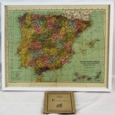 Mapas contemporáneos: MAPA DE ESPAÑA DE 1929, EN TELA, 'COLECCIÓN DE CARTAS COROGRÁFICAS MARTIN, ESPAÑA Y PORTUGAL'.. Lote 72450782