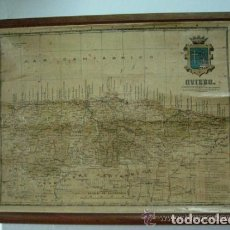 Mapas contemporáneos: MAPA ESCUELA DE LOS 40, 50. PEQUEÑO FORMATO. ASTURIAS. Lote 73410871